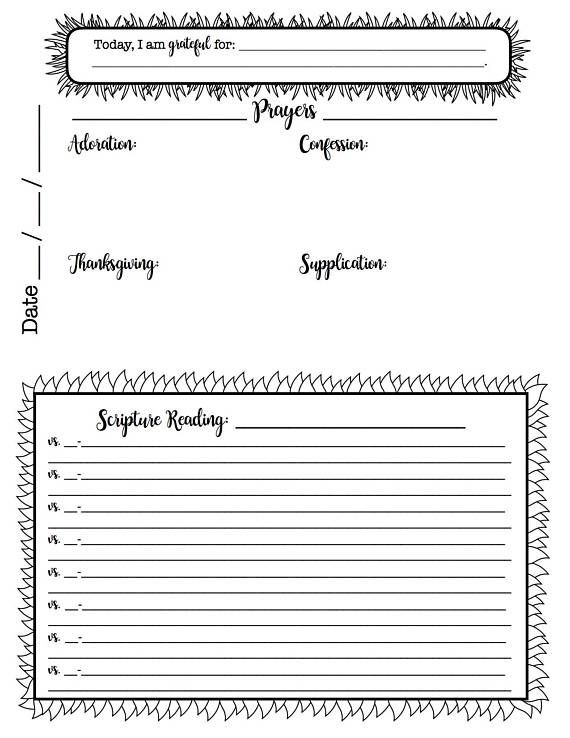 Free Bullet Journal Printable Pages To Inspire Your Title Box Atop