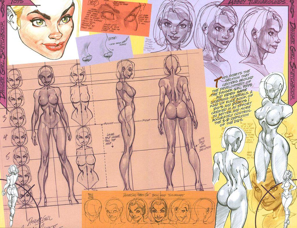 female model sheet j scott campbell - Google Search   Animation ...