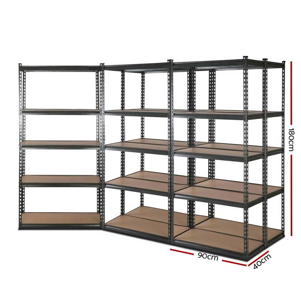 5x0 9m 5 Shelves Steel Warehouse Shelving Racking Garage Storage Rack Grey Only Aud 391 16 Looking F In 2020 Garage Storage Racks Warehouse Shelving Garage Storage