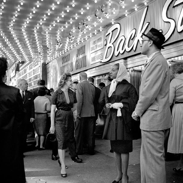 Black and white photographs of street scenes from the 1950s 60s see the whole