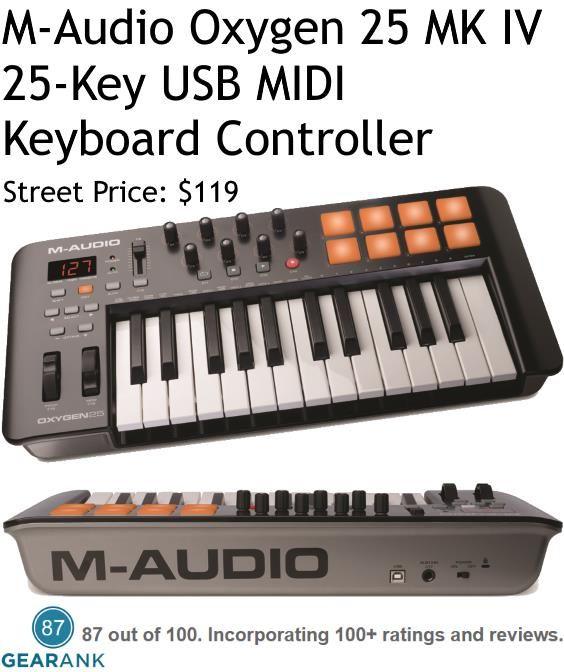 MAudio Oxygen 25 MK IV 25Key USB MIDI Keyboard