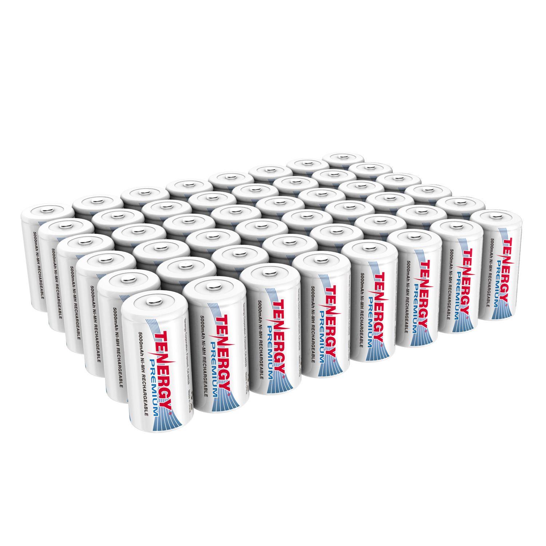 2 Pack 1 X Cards Tenergy Centura Nimh C 1 2v 4000mah Rechargeable Batteries Nimh C Batteries Recharge