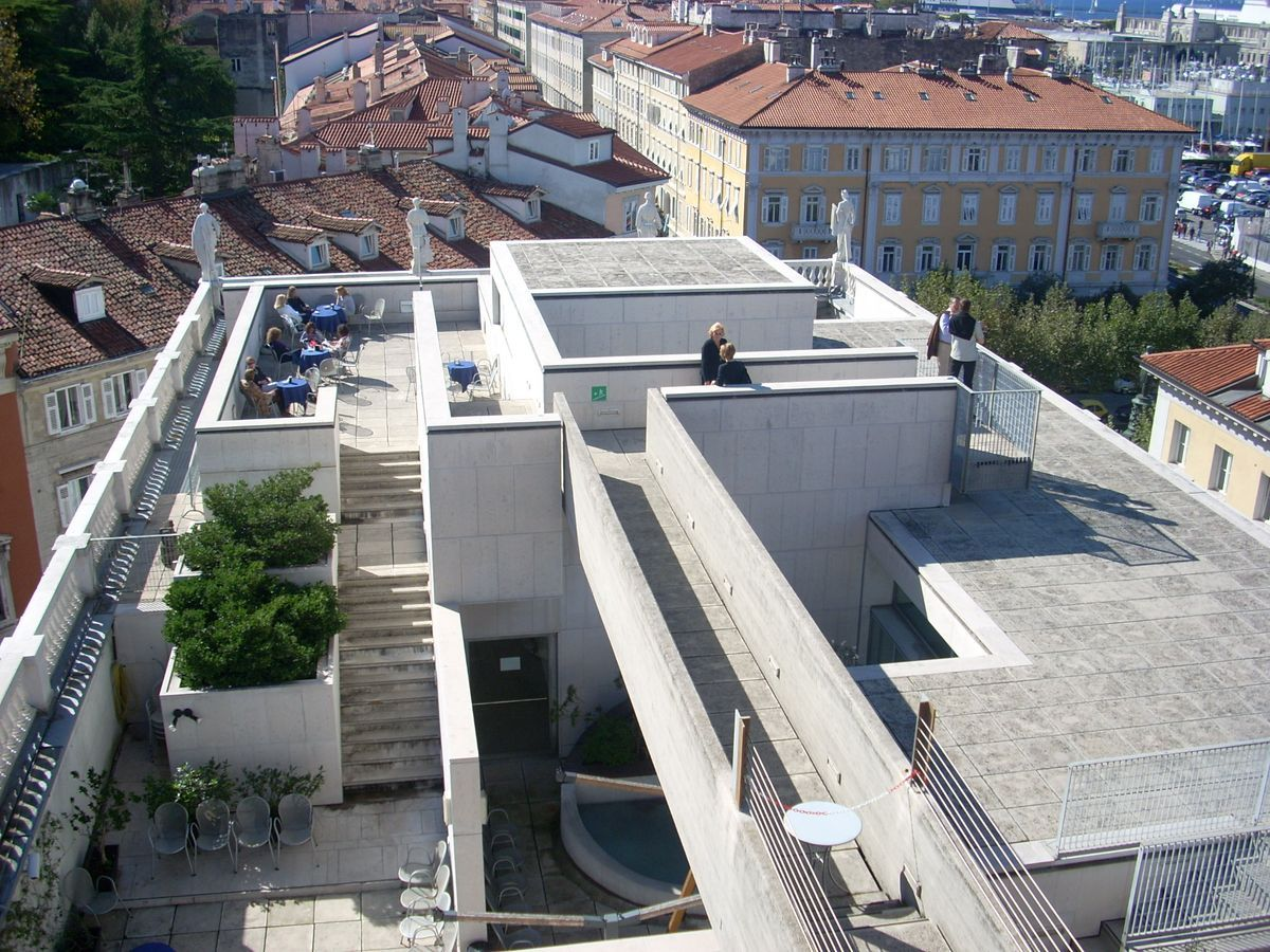 Trieste Architettura Museo Revoltella Rooftop Aerial Walkway From The Last