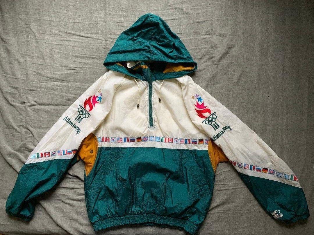 Men s vintage 90 s Starter 1996 Atlanta Olympics windbreaker jacket size L 3f3248c52