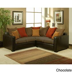 Bailey 2 Piece Suede Sectional Sofa Living Room Decor Brown Couch Sofas For Small Spaces Small Sectional Sofa