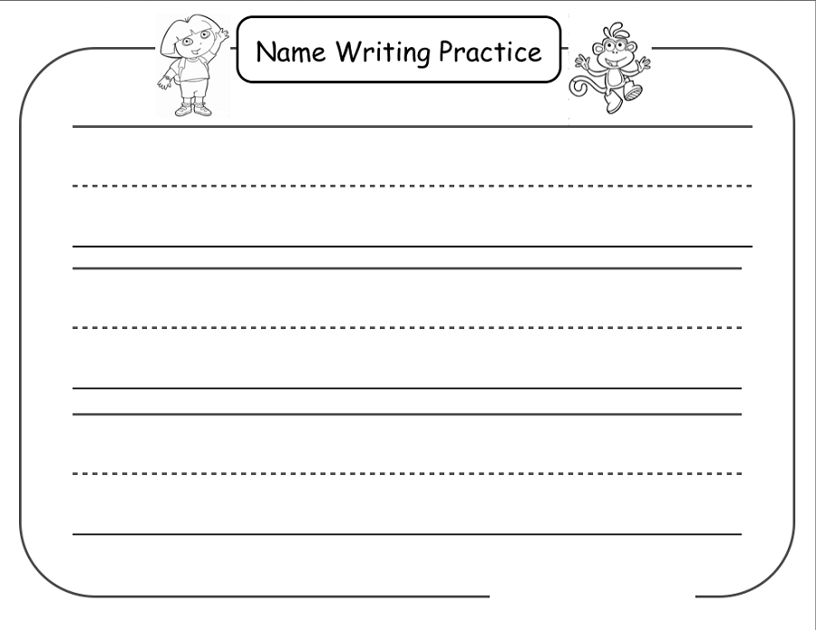 Trace Your Name Worksheets Activity Shelter Handwriting