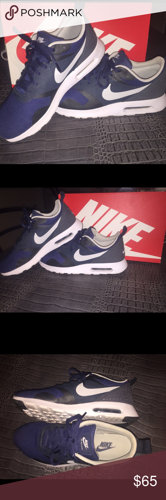 Nike Air Max Tavas Worn only once, great condition! The size is 7.5 in mens, 9 womens, they didn't fit me, so im selling em! Nike Shoes Athletic Shoes
