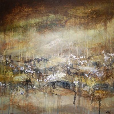 Abstract Painting Original Contemporary Art on Canvas - Storm II SOLD