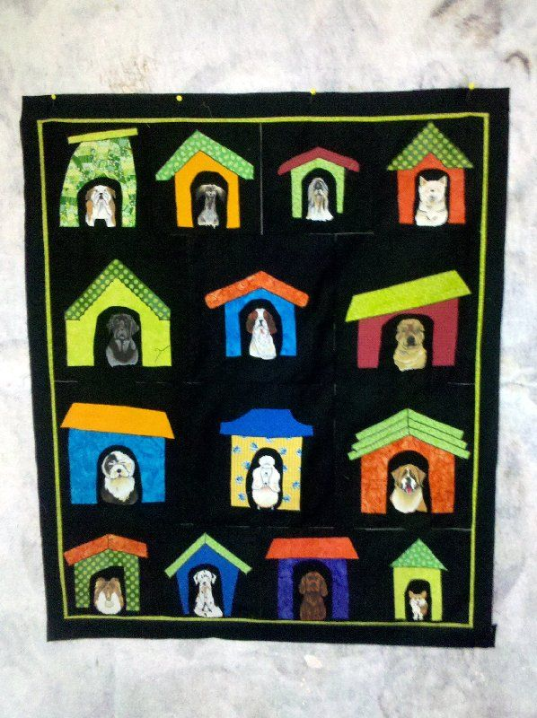 Dog House Quilt Like The Rooflines House Quilts