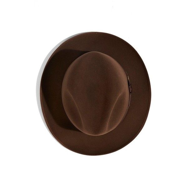 Stetson 'Runabout' Royal Quality Packable Felt Fedora ($150) ❤ liked on Polyvore featuring men's fashion, men's accessories, men's hats and walnut