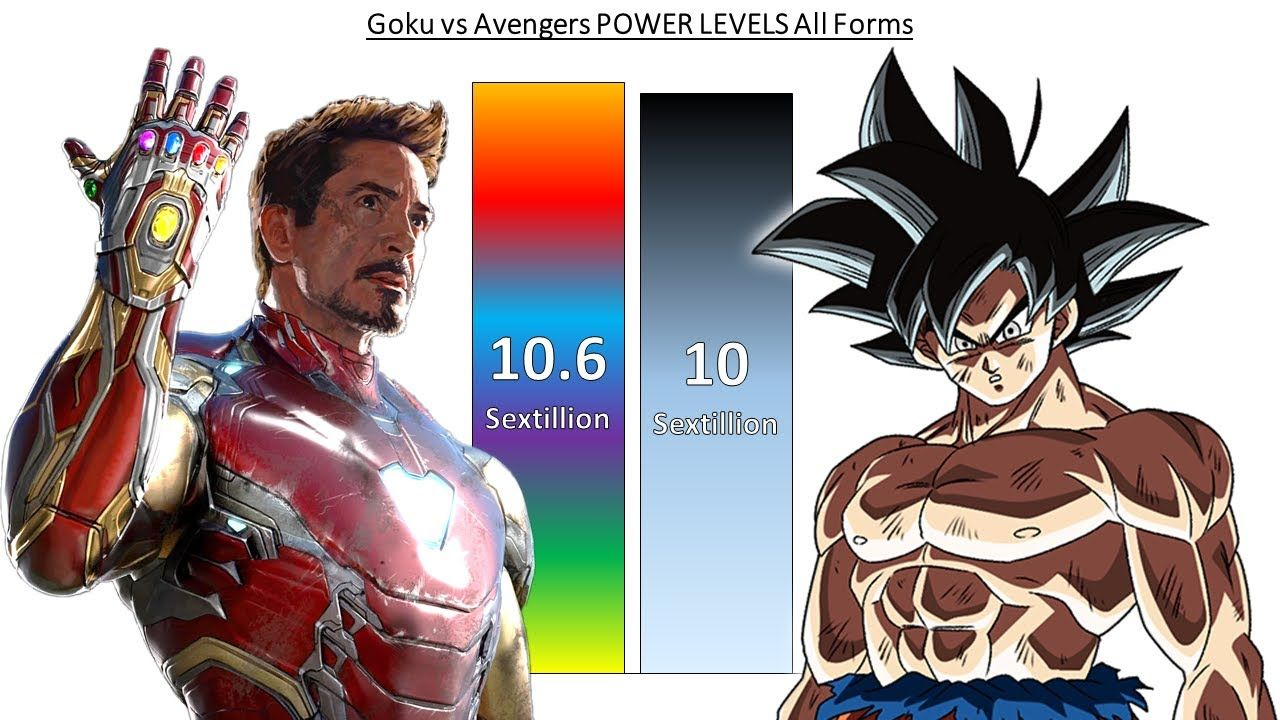 Goku Vs Avengers Power Levels All Forms Dragon Ball Vs Marvel Goku Vs Avengers Marvel Youtube