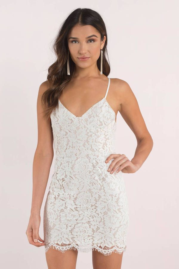 Willow Lace Bodycon Dress Hoco In 2019 Dresses White