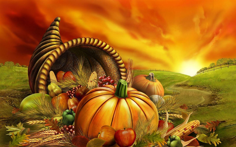 Harvest foods Thanksgiving illustration design wallpaper