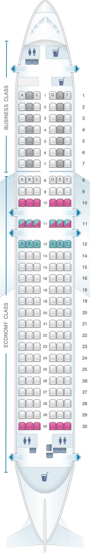 Seat Map Lufthansa Airbus A320