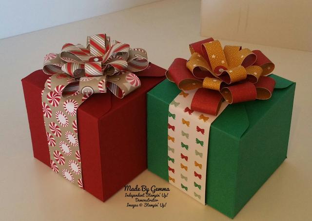 Stampin'Up! Box card Gift Box