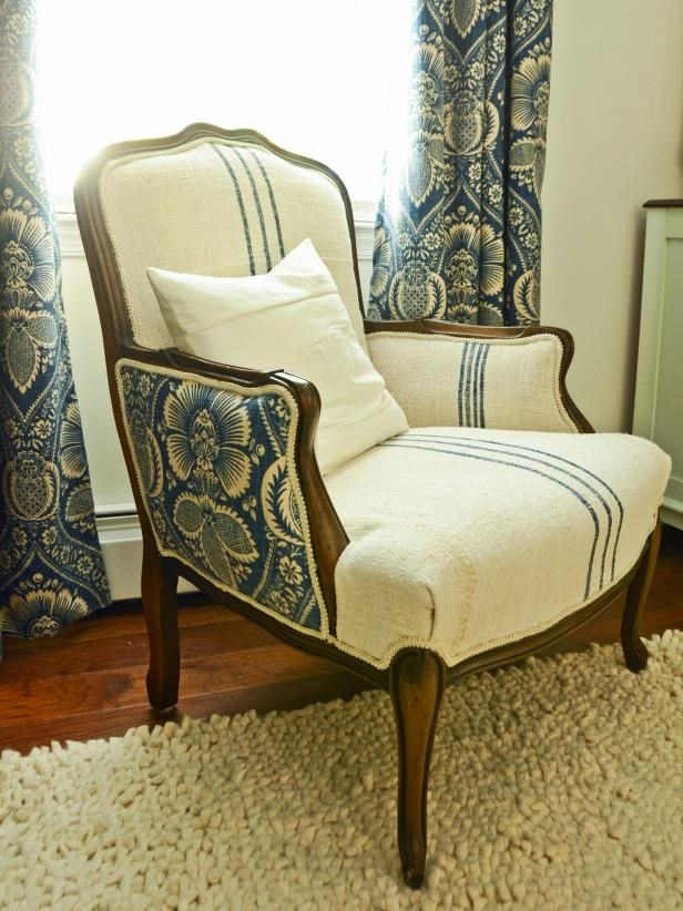 Upholstery can be an intimidating project, but it seems more complicated than it actually is. A thrift store arm chair with simple lines, a sturdy frame and good padding makes a perfect subject for a novice upholsterer.