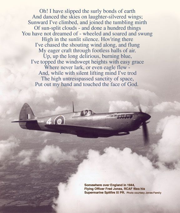 Fred Jones Fly S His Spitfire Somewhere Over England In 1944