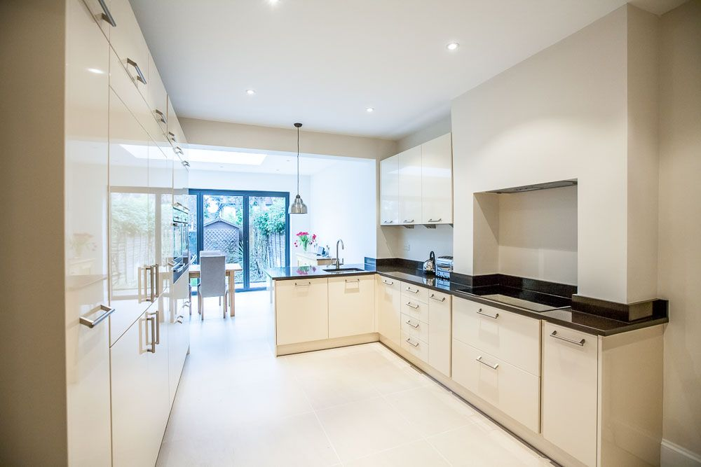 Single storey extension to victorian property in for Extended kitchen ideas