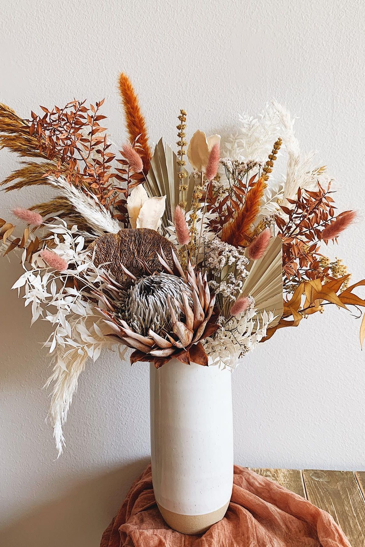 Affordable dried flower arrangements for home decor in