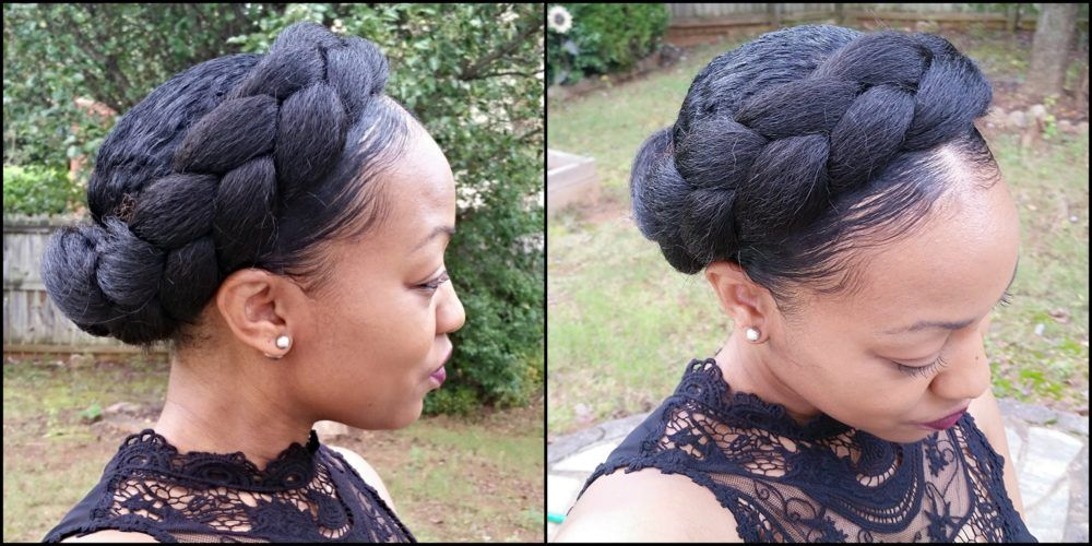 6 Alternatives To Long Term Protective Styling Goddess Braids Natural Hair Styles Halo Braid