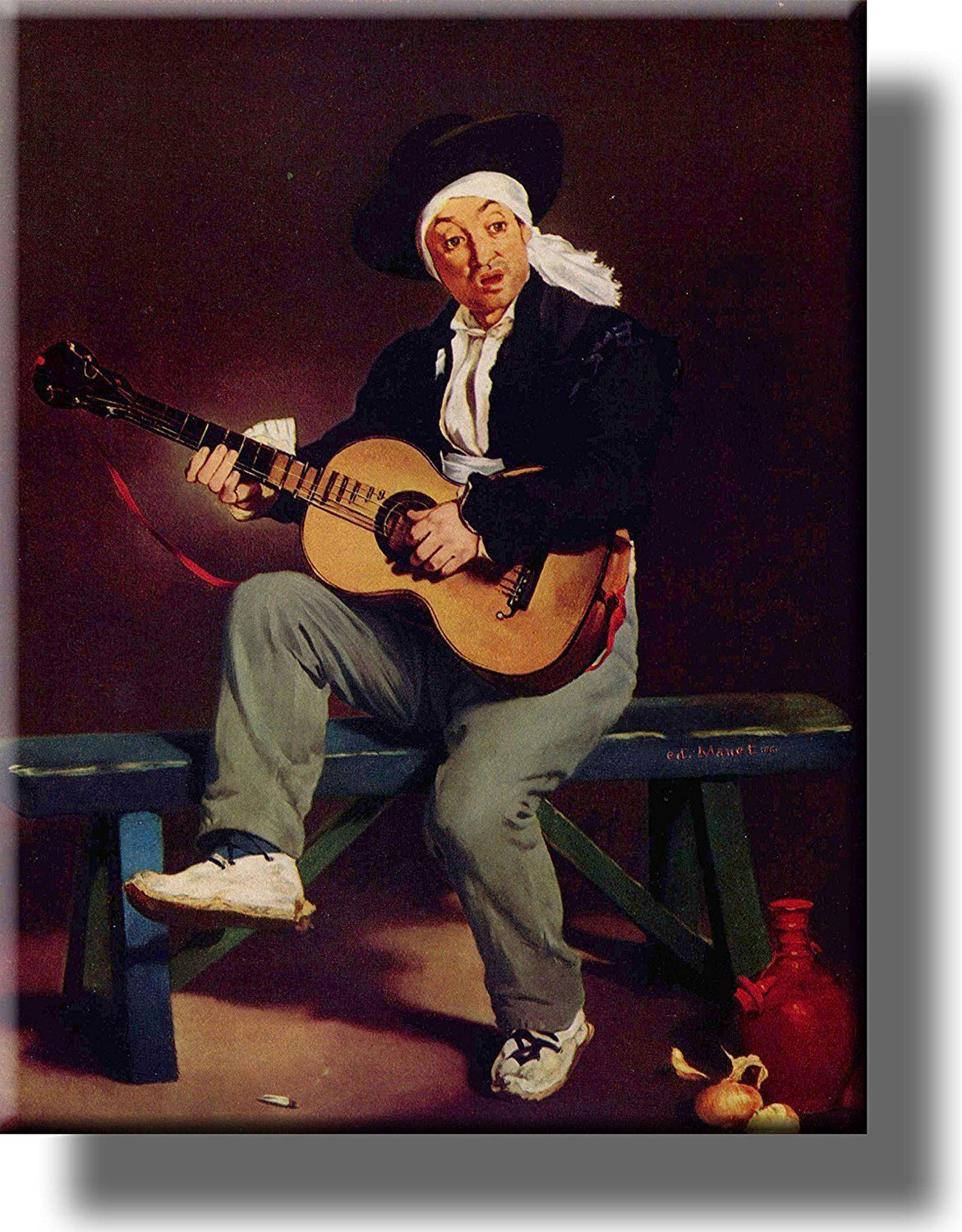 Spanish Singer Guitar Player Picture on Acrylic , Wall Art