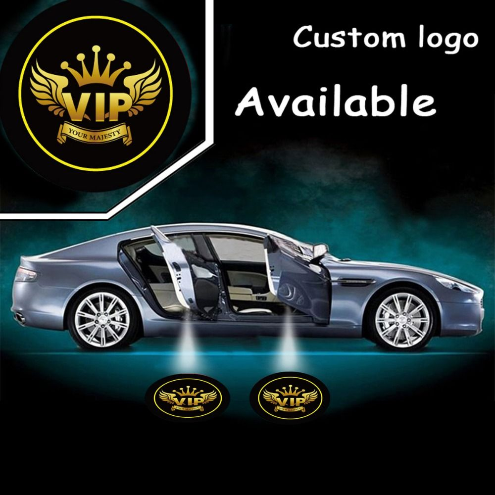2 X Auto Led Laser Logo Light Open Door Welcome Ghost Shadow Projector Lights For Vip Your Majesty 4543 Lighting Logo Ghost Light Custom Logos