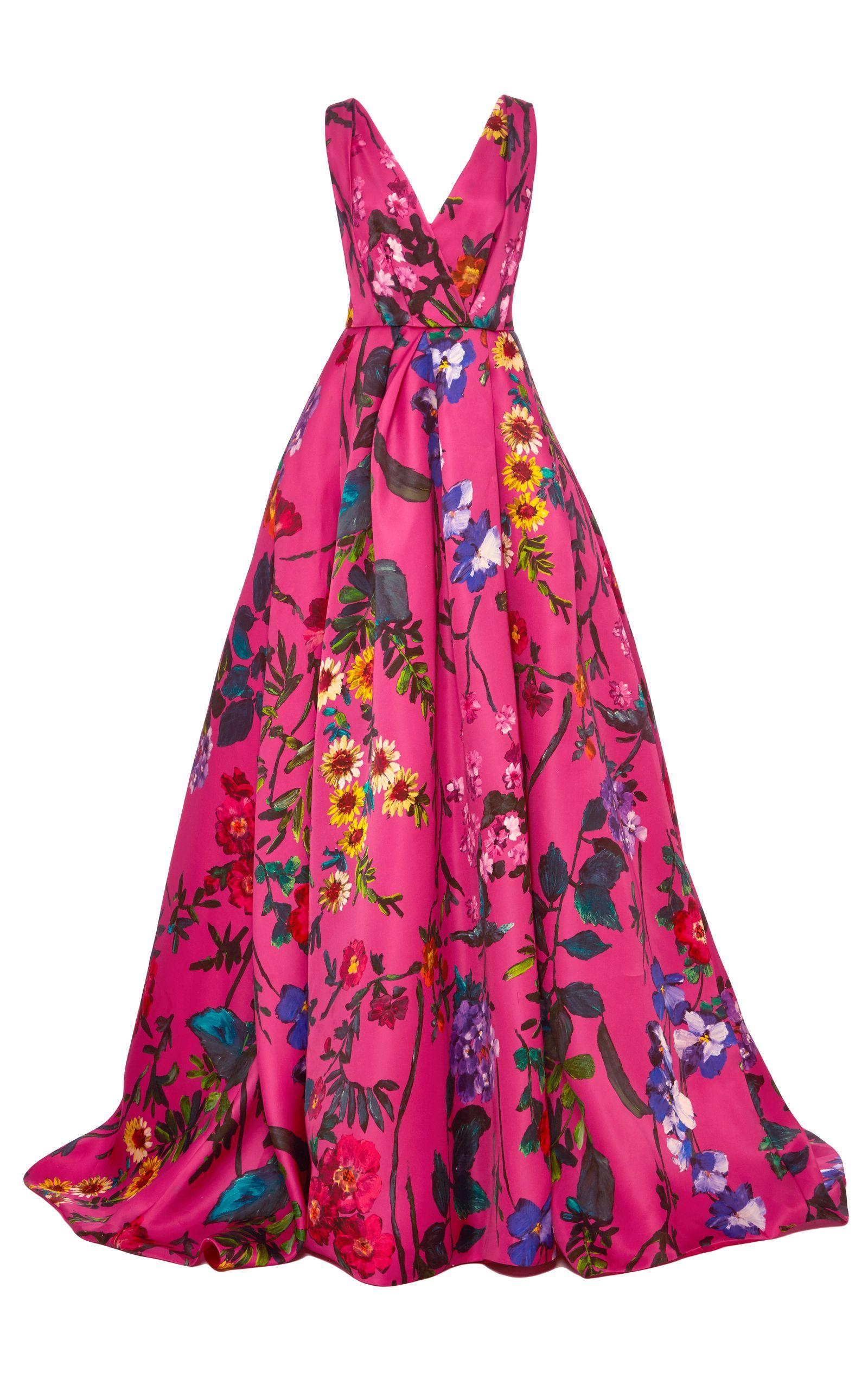 Monique Lhuillier Sleeveless Floral Ball Gown | Monique lhuillier ...