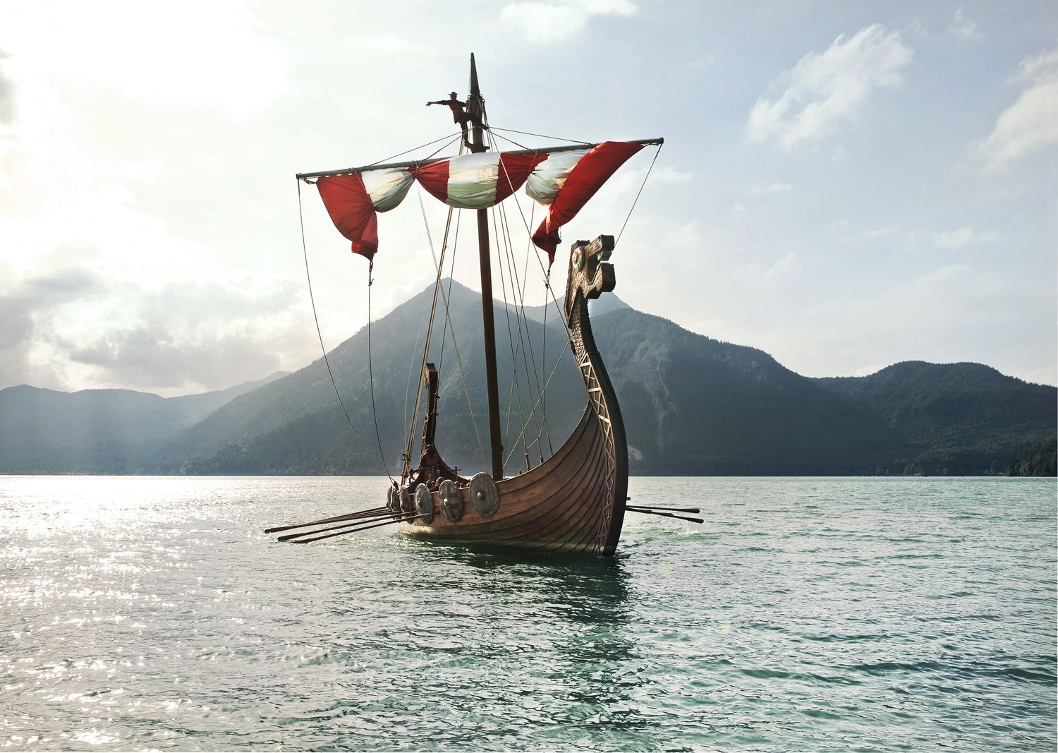 Viking Ships Were Vessels Used During The Viking Age In Northern Europe Scandinavian Tradition Of Shipbuilding During The Viking A Viking Ship Vikings Sailing