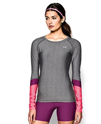 Under Armour Girl/'s Heatgear Fitted Block Party Long Sleeve Jersey