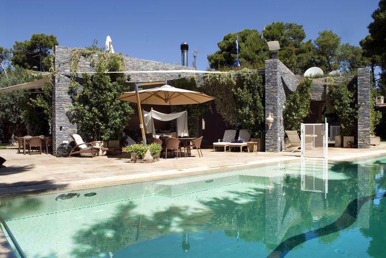Greek swimming pool, Luxury housing,urban house ,vacation