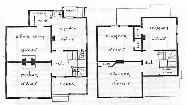 Folk Victorian House Plans From The Mid 1800s Griffins Is Built On A