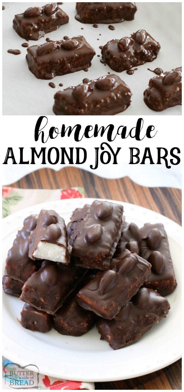 HOMEMADE ALMOND JOY BARS  Butter with a Side of Bread is part of Almond joy bars -