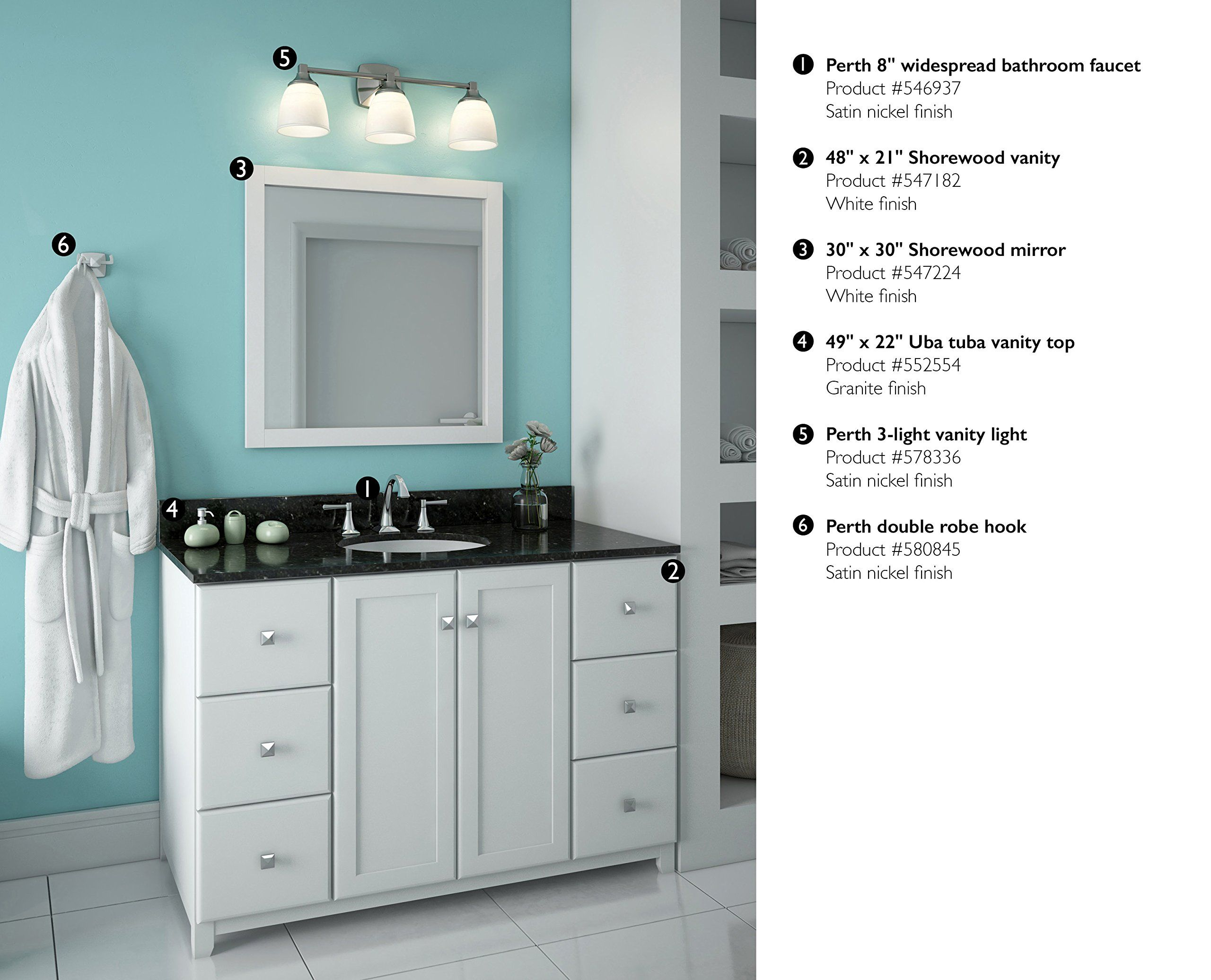 Design House 547224 30inch By 30inch Vanity Mirror Semigloss White Check This Awesome Product By Going To The Link At The Image Vanity Mirror Vanity Mirror