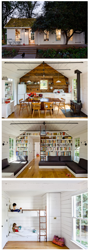 540 sq ft home w green roof on Sauvie Island, about 15 minutes north of Portland, Oregon. Designed and owned by Jessica Helgerson. Photos by Lincoln Barbour. | Tiny Homes