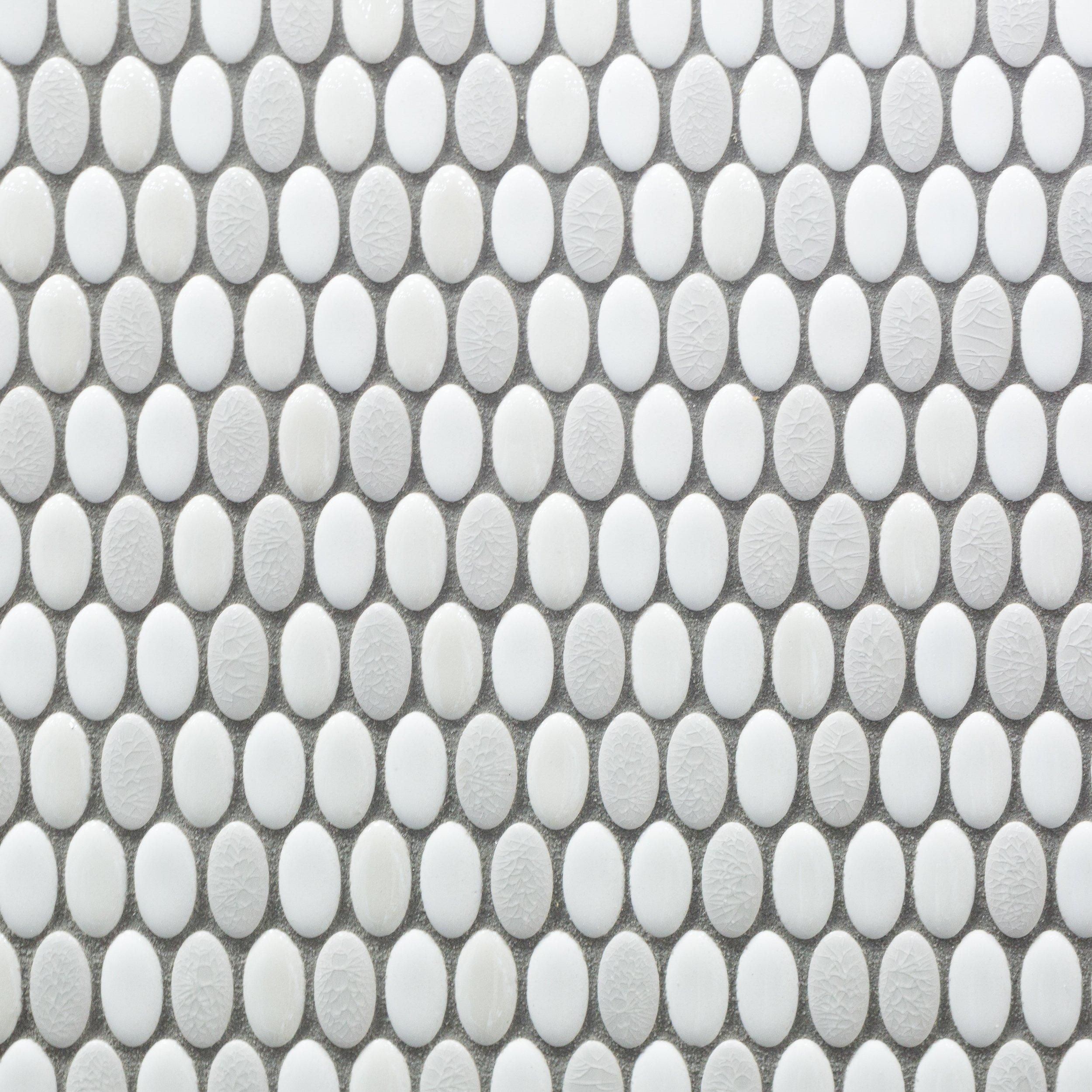 Abalone Ellipse Ceramic Mosaic Mosaic Decorative Tile Backsplash Mosaic Glass