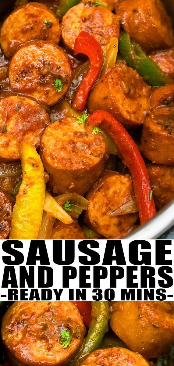 INSTANT POT SAUSAGE AND PEPPERS RECIPE Quick easy healthy made with simple ingredients This 30 minute meal is loaded with Italian herbs Can also be baked in oven or made...