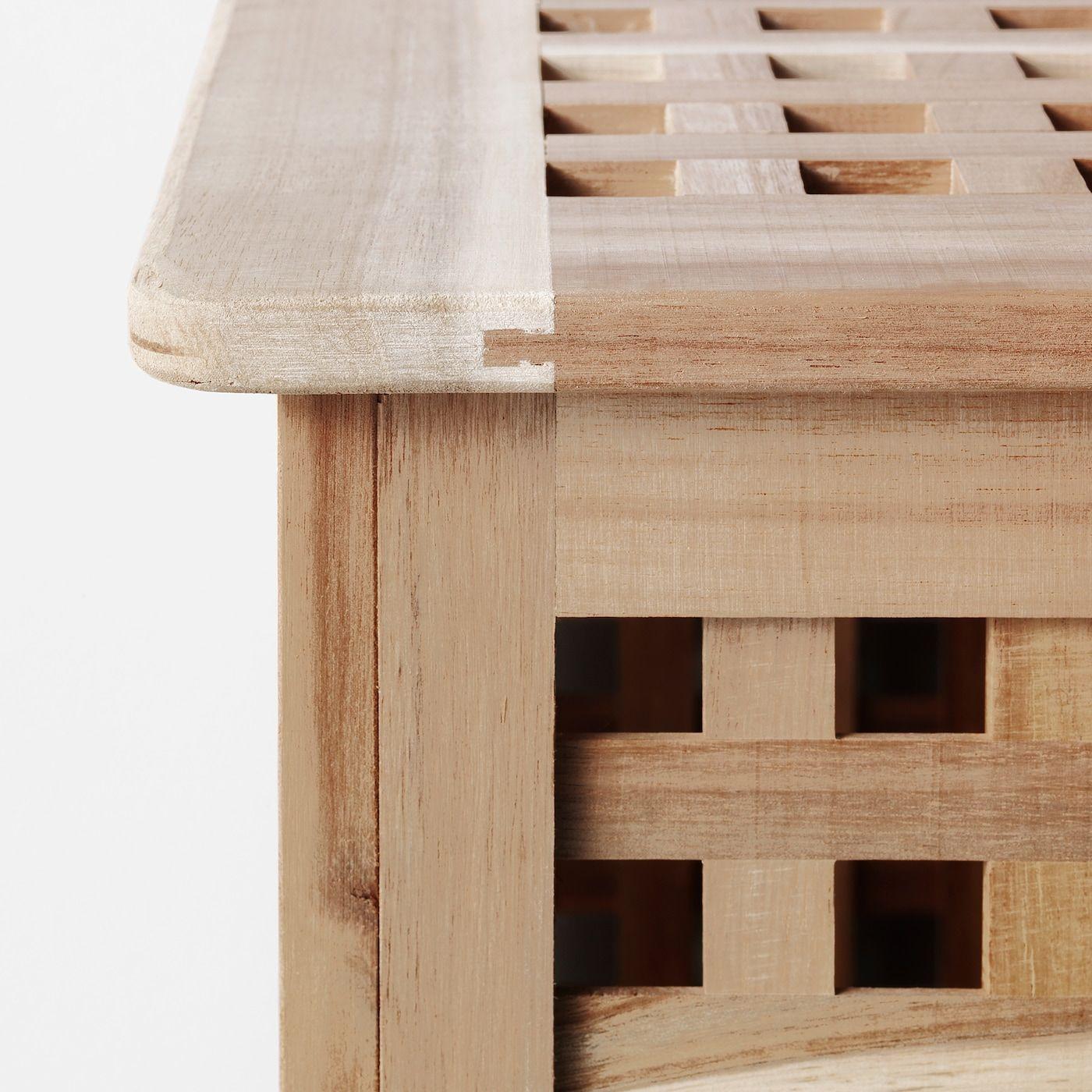 Hol Tavolino Acacia 50x50 Cm Ikea It Ikea Table Storage Wood Console Table [ 1400 x 1400 Pixel ]