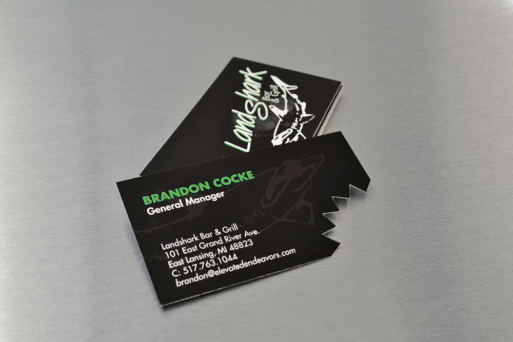 Landshark Bar Amp Grill Business Cards Via Capital Imaging