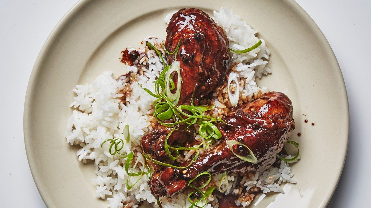 Depending on your personal preference, you can brush off and discard the peppercorns before cooking, or leave them on for stronger flavor. One of our food editors says this chicken adobo recipe is actually <a href=