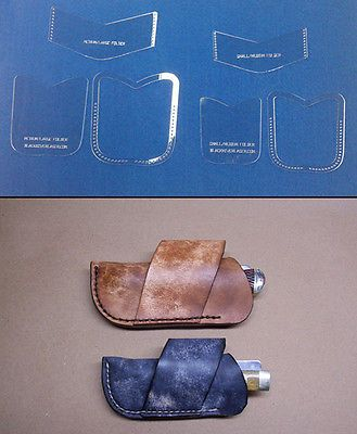 Cross Draw Knife Sheath Template Sets For Leathercrafters S M L