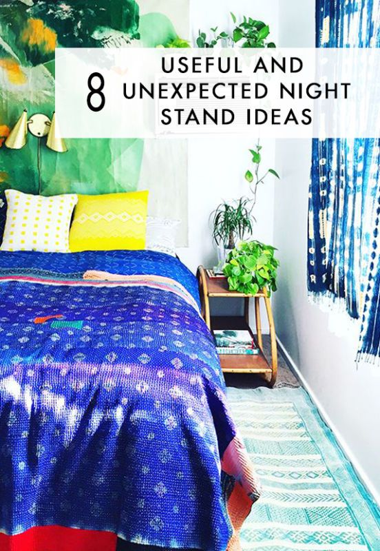 21 Easy Unexpected Living Room Decorating Ideas: 8 Useful And Unexpected Night Stand Ideas