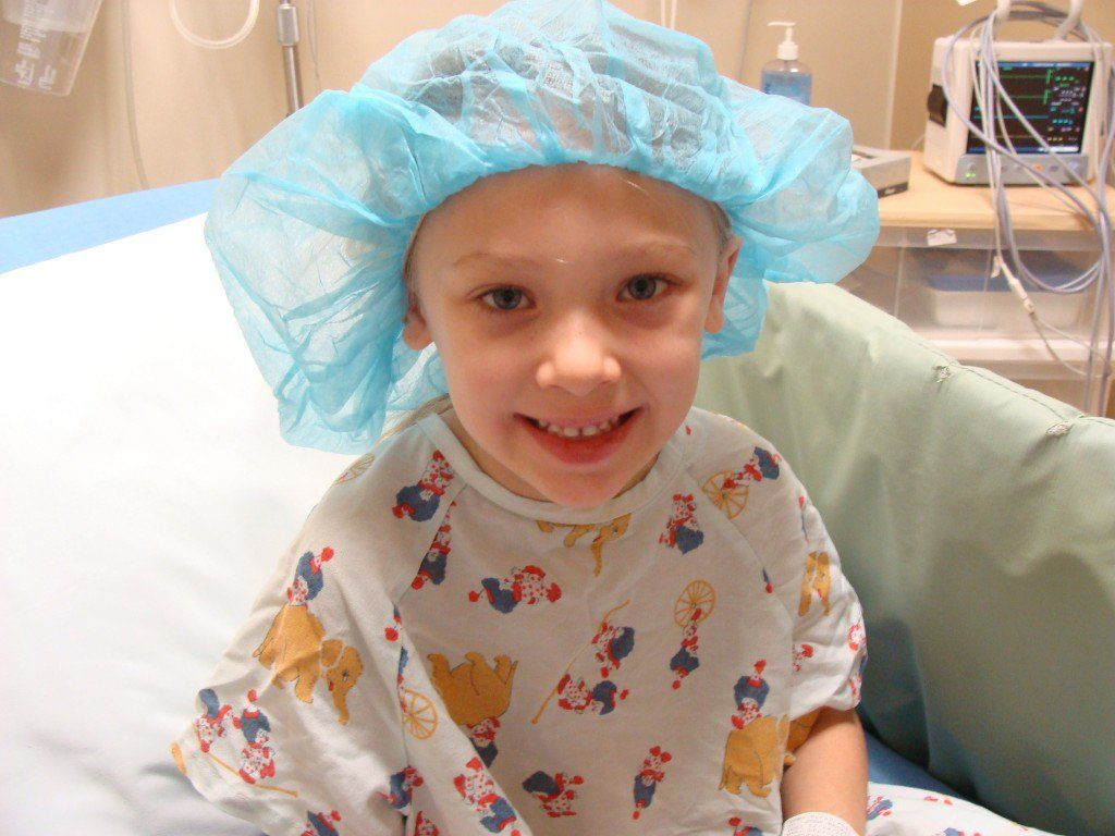 How is the procedure for the removal of adenoids in a child