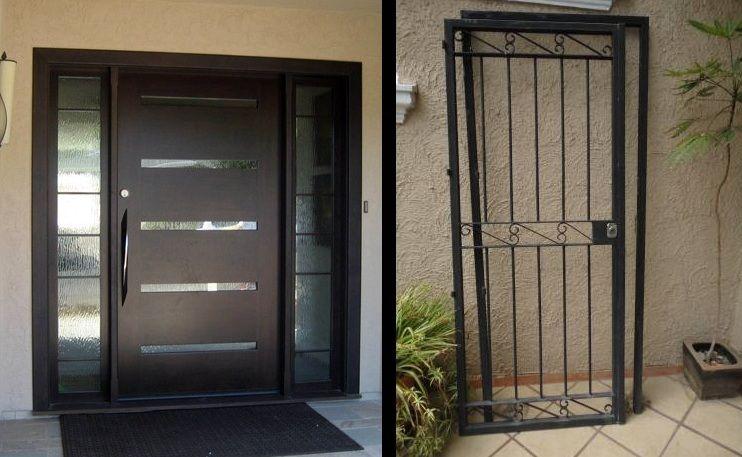 Puertas de protecci n protecci n para puertas for Puertas de herreria para casa