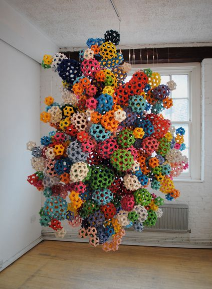 'Construct' paper sculpture by James Roper