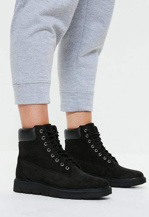f996297d8d2a Missguided Timberland Black Out Nubuck Kenniston 6 Inch Lace Up Boots
