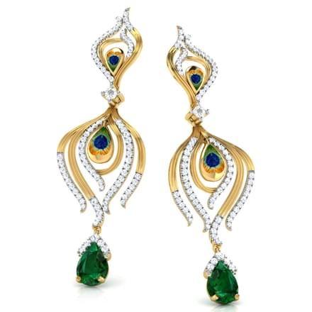 Curvy Scroll Stud Earrings Jewellery India Online