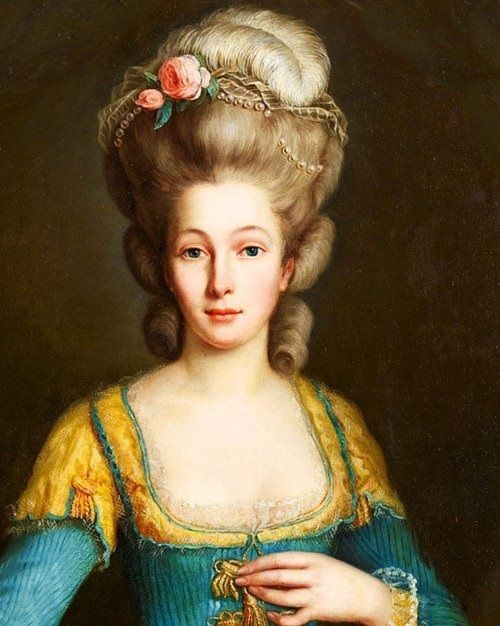 Beauté du XVIII siècle Mode du 18ème siècle, Portrait