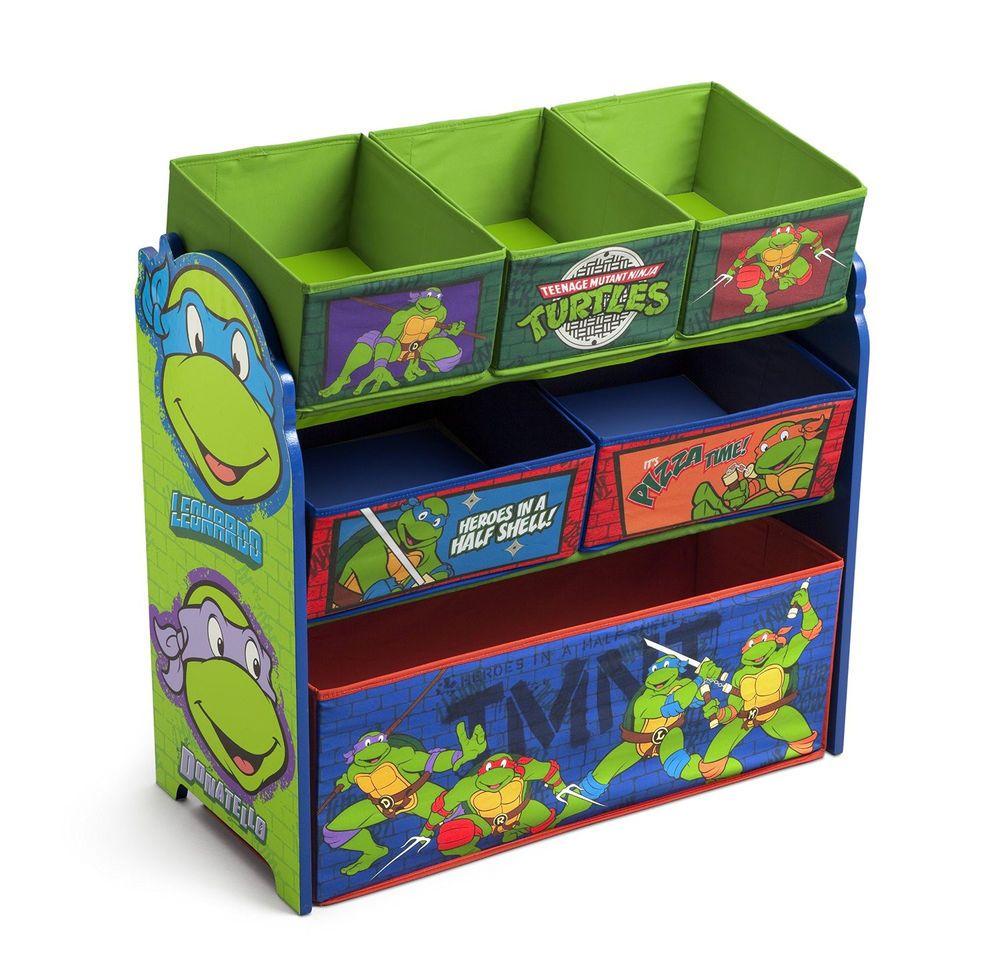 Toy organizer multi bin ninja turtles green room kids dresser tmnt