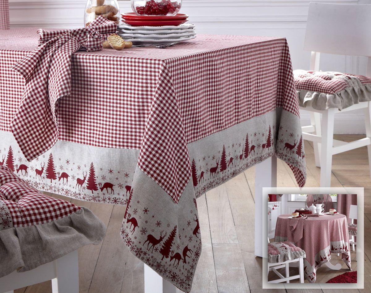 Linge de table esprit chalet becquet deco chalet for Table de chalet