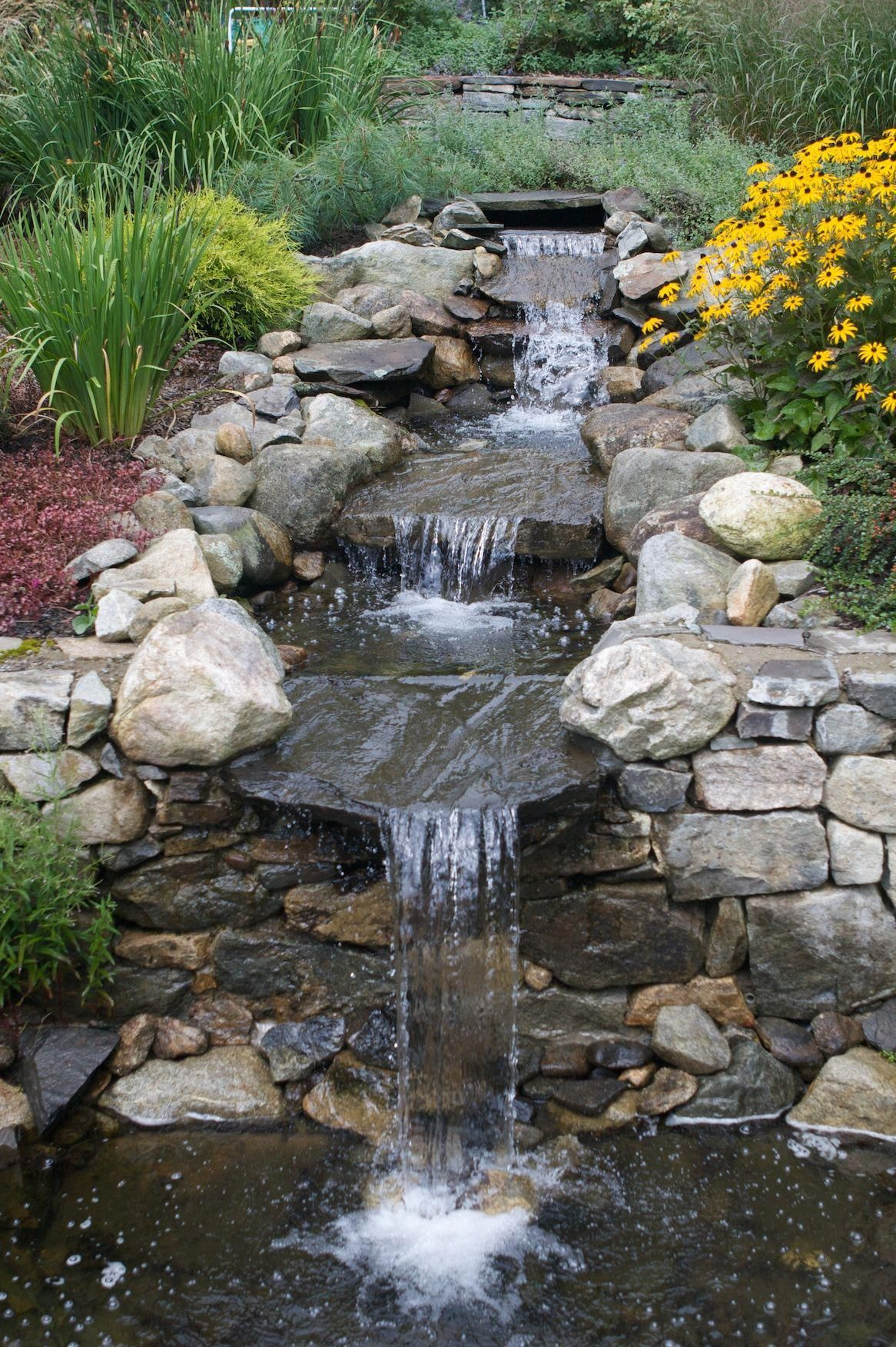 Why not try these out for details Pretty Landscaping Ideas ... on Small Backyard Waterfall Ideas id=27538
